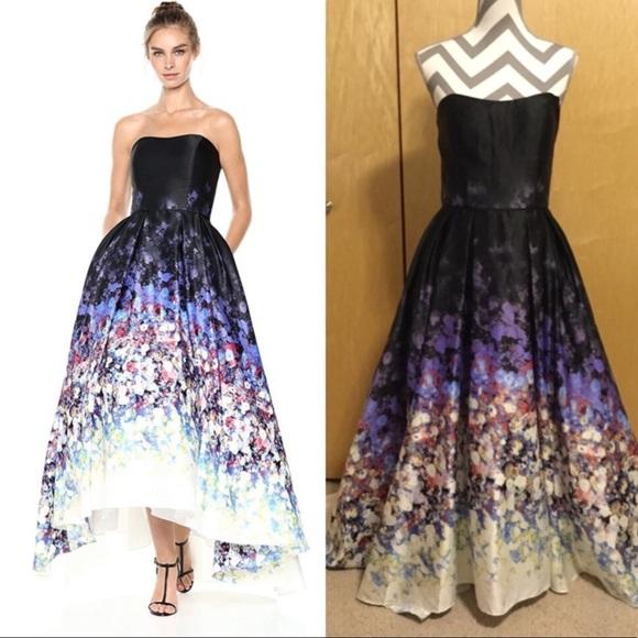 Betsy /& Adam Womens Strapless Ball Gown Dress